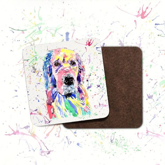 Hardboard Coaster  (Golden Retriever)